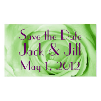 Mint Green Save the Date Double-Sided Standard Business Cards (Pack Of 100)