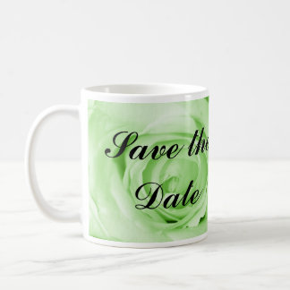 Mint Green Save the Date Classic White Coffee Mug