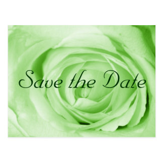 Mint Green Save the Date Postcard