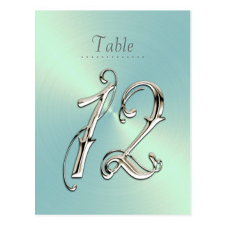 Mint Green Sheen Table Number Post Card