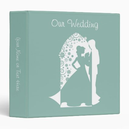 Mint Green Silhouette Wedding Binders