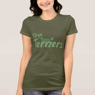 Mint Green Skye Terrier Ladies TShirt