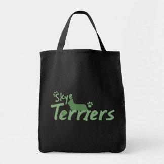 Mint Green Skye Terrier Tote Bag