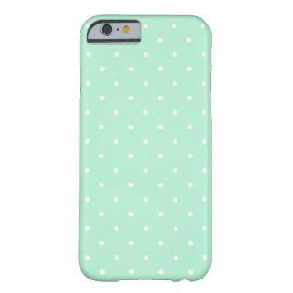 Mint Green Small Polka Dots Pattern iPhone 6 case
