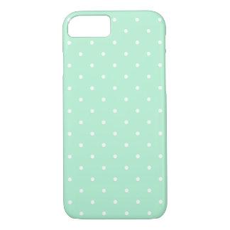 Mint Green Small Polka Dots Pattern iPhone 7 case