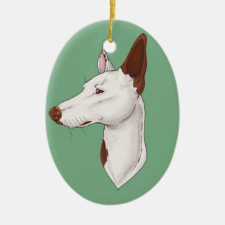 Mint Green Smooth Ibizan Hound Ornament