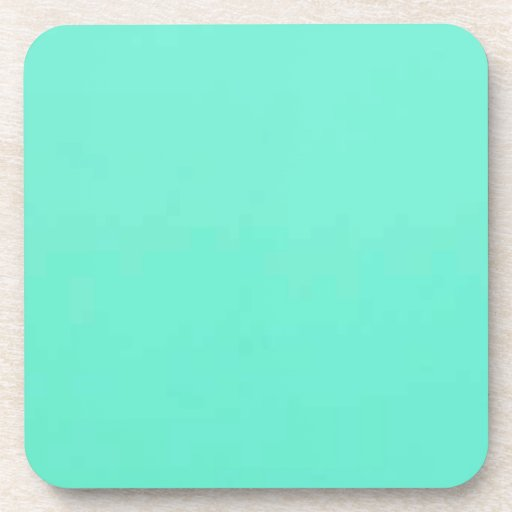 Mint Green Solid Fashion Color Beverage Coasters
