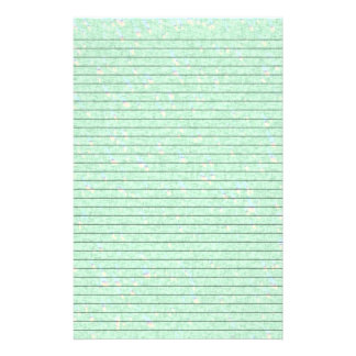 Mint Green Speckled Stationery w/ Optional Lines