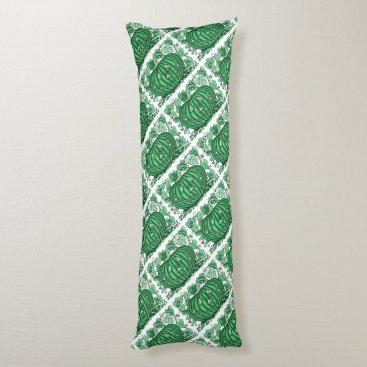 Halloween Themed Mint-Green Spidery Pumpkin Body Pillow