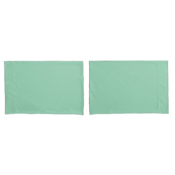 Mint Green Standard Sized Pair of Pillowcases