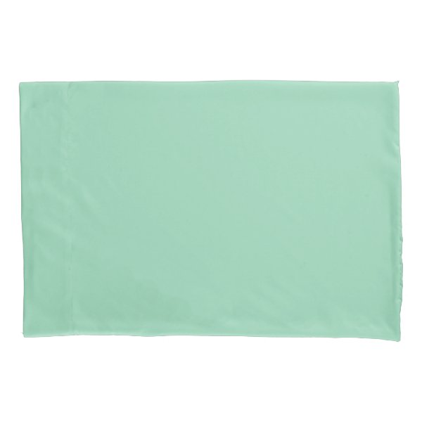 Mint Green Standard Sized Single Pillowcase