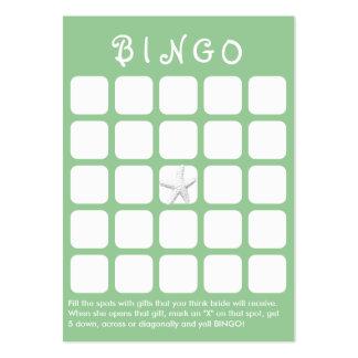 Mint Green Star Fish 5x5 Bridal Shower Bingo Card Business Cards