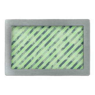 Mint Green Stripe Rectangle Buckle Rectangular Belt Buckle