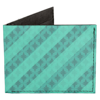 Mint Green Striped Patter Custom iPhone 6 Cases Tyvek® Billfold Wallet