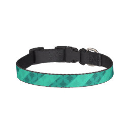 Mint Green Striped Pattern Custom Pet Collar