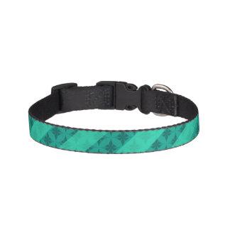 Mint Green Striped Pattern Custom Pet Collar