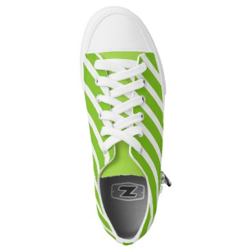 USA Themed Mint Green Stripes Low-Top Sneakers