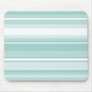 Mint green stripes mouse pad