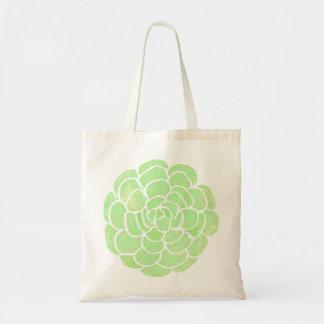 Mint Green Succulent Design | Tote Bags