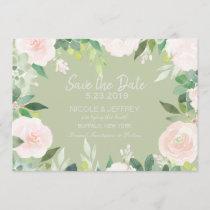 Mint Green Succulent Flower Wedding Save the Date