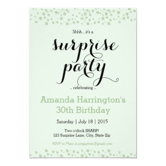 Mint Green Surprise Party Invitation - Adult