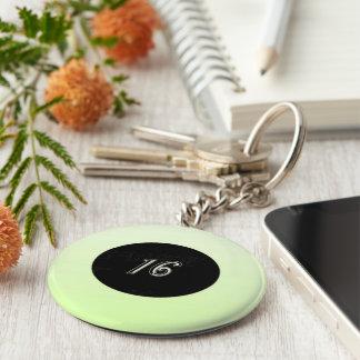 Mint Green Sweet 16 Keychain