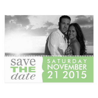 Mint Green Sweet Beginnings Save the Date Photo Postcard