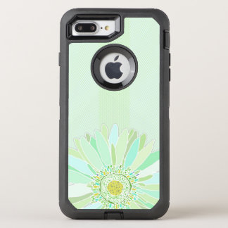 Mint Green Texture Daisy Art OtterBox Defender iPhone 8 Plus/7 Plus Case