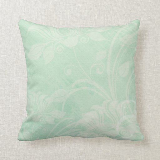 Mint green textured vintage styled throw pillow Zazzle