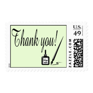 Mint Green Thank You Ink Stamp