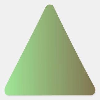 Mint Green to Dark Brown Vertical Gradient Triangle Sticker