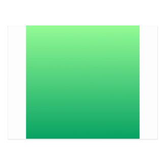 Mint Green to Shamrock Green Horizontal Gradient Postcard