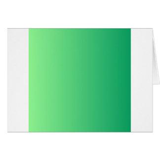 Mint Green to Shamrock Green Vertical Gradient Card