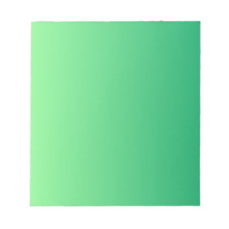 Mint Green to Shamrock Green Vertical Gradient Note Pad