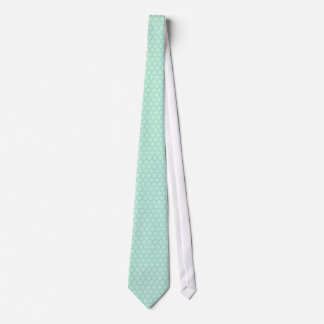 Mint-Green Tones Quatrefoil Pattern Tie