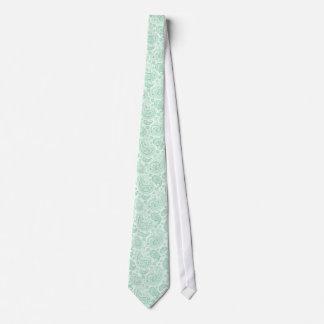 Mint-Green Tones Vintage Paisley Pattern Neck Tie