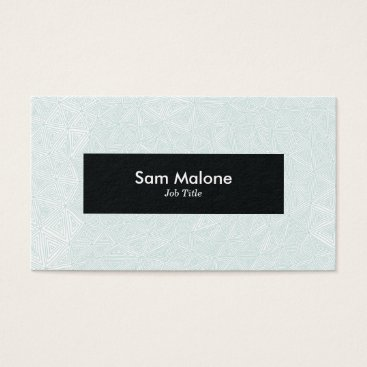 Professional Business Mint Green Triangles Business Card