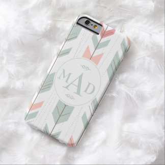 Mint Green Tribal Pattern Monogram iPhone 6 Case