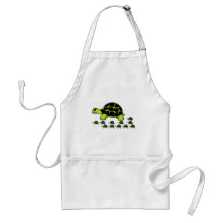 mint green turles adult apron