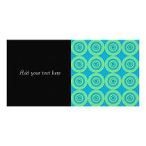 Mint Green Turquoise Circles Modern Pattern Card