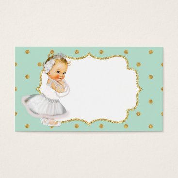 Professional Business Mint Green Vintage Baby Princess Business Card