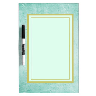 Mint Green Vintage Style Texture Dry Erase Board