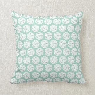 Mint green Volleyball Throw Pillow