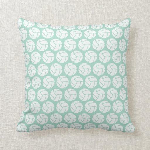 Throw Pillows In Mint Green : Mint green Volleyball Throw Pillow Zazzle