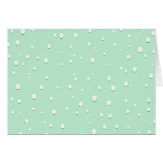 Mint Green Water Droplets Card
