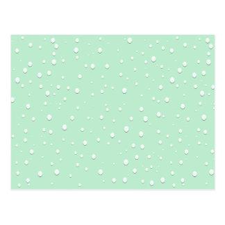 Mint Green Water Droplets Postcard