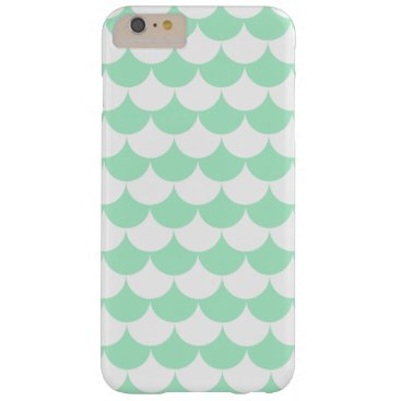 Beach Themed Mint Green Waves Pattern Nautical Barely There iPhone 6 Plus Case