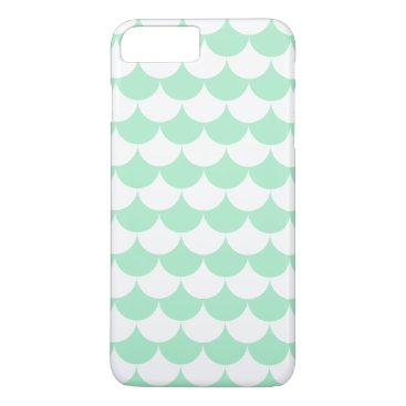Beach Themed Mint Green Waves Pattern Nautical iPhone 8 Plus/7 Plus Case