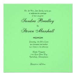 Mint Green Wedding Invitations