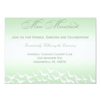 Mint Green Wedding Reception Cards Custom Invites